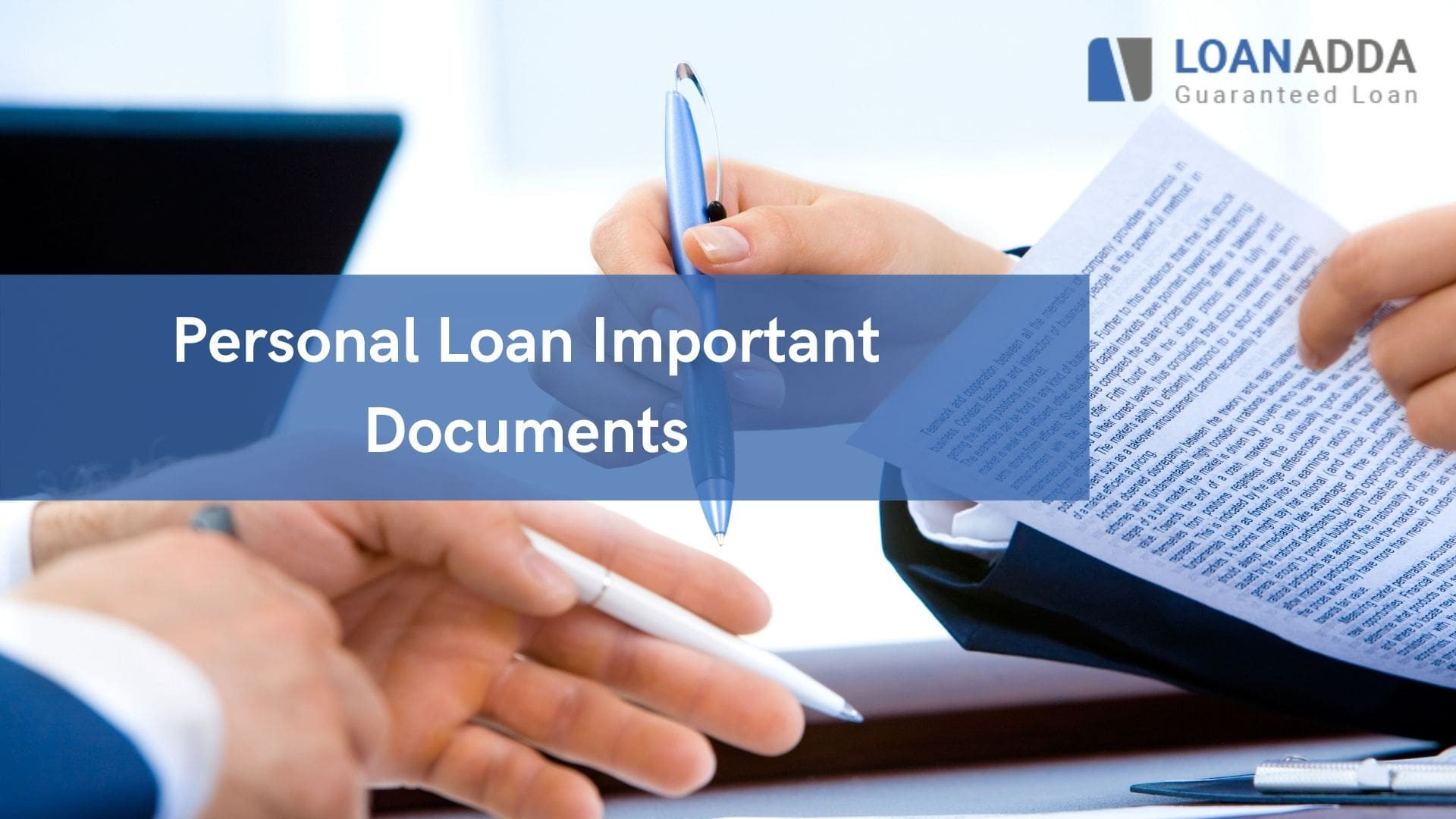 List of Documents Required for Swift Personal Loan Application Process